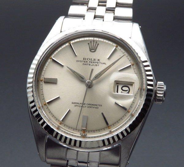 ロレックス - Antique Rolex -   1963年 アンティーク ロレックス デイトジャスト 1601 WGベゼル CAL1560 アルファ針 ヴィンテージ【OH済】