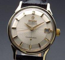 1966年 12角 オメガ アンティーク コンステ Cal.561 クロノメーター ゴールドキャップ ヴィンテージ【OH済】