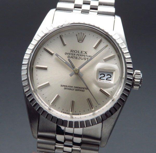 ロレックス - Antique Rolex -   売り切れ  1986年製 ロレックス デイトジャスト 16030 エンジンターンド 新品仕上 CAL3035{中古}【OH済】