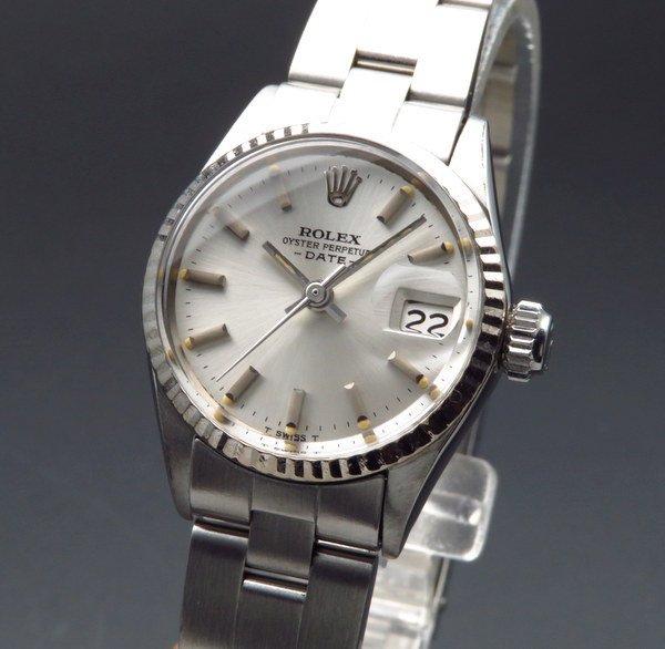 ロレックス - Antique Rolex -   完売 1967年 アンティーク ロレックス オイスターデイト 6516 WGベゼル レディース【OH済】