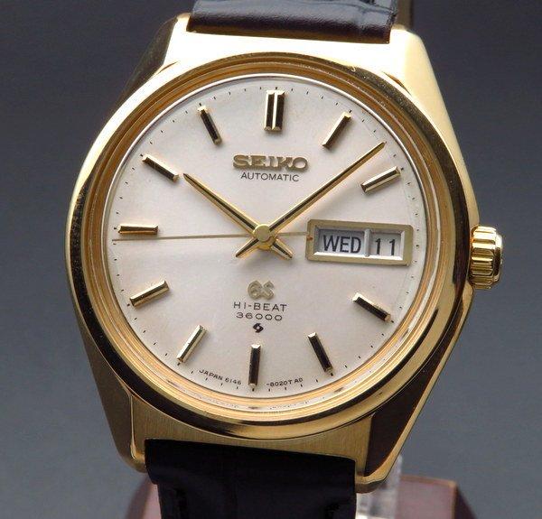 セイコー - Antique Seiko -   完売 1968年 K18金無垢 グランドセイコー アンティーク 6146-8000 61GS デイデイト 新品仕上 美品 【OH済】