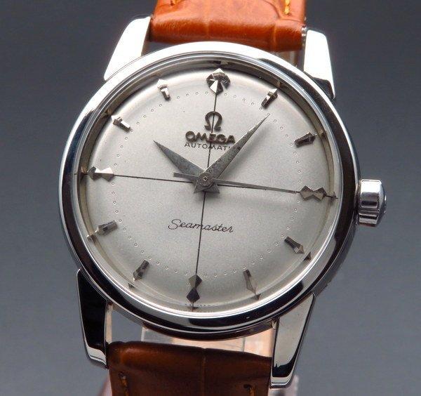 即納品  1955年 オメガ CAl354 ハーフローター シーマスター クロスライン クサビ ヴィンテージ【OH済】
