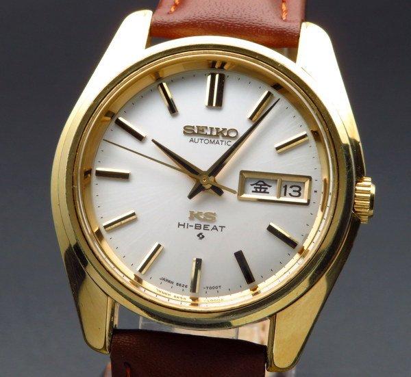 セイコー - Antique Seiko -   売り切れ 1968年 アンティーク キングセイコー HI-BEAT KS56 ゴールドキャップ 5626-7000 ヴィンテージ【OH済】
