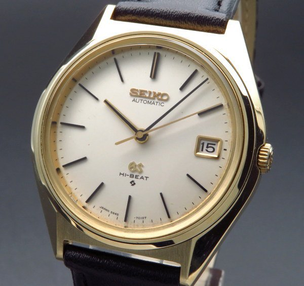 セイコー - Antique Seiko -    売り切れ 1970年製 アンティーク グランド セイコー 5645-7010 56GS ハイビート ゴールドキャップ ヴィンテージ【OH済】
