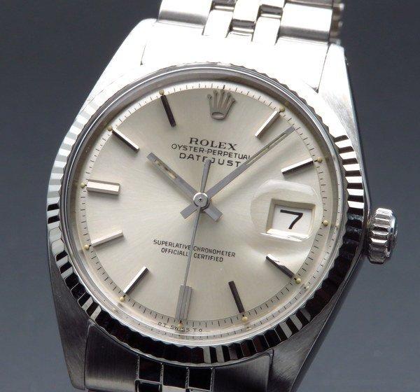 ロレックス - Antique Rolex -   完売 1970年 アンティーク ロレックス デイトジャスト 1601 WGベゼル CAL1570 ヴィンテージ【OH済】