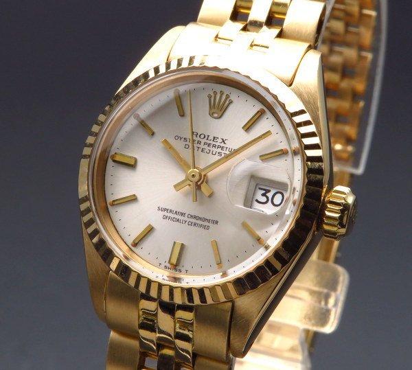 ロレックス - Antique Rolex -   商談中 1969年 K18金無垢 アンティーク ロレックス オイスター ref6917 デイトジャスト レディース【OH済】