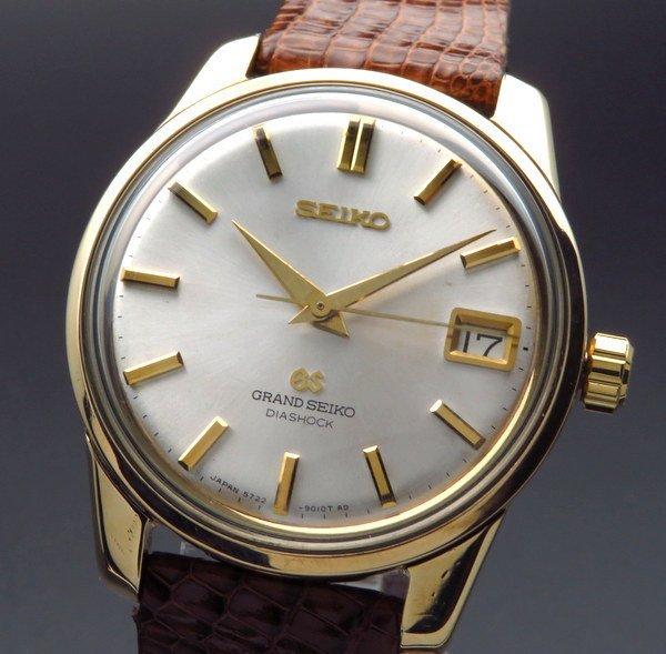 セイコー - Antique Seiko -   完売 1967年製 グランドセイコー 5722-9011 アンティーク GS57 手巻き ゴールドキャップ ヴィンテージ【OH済】