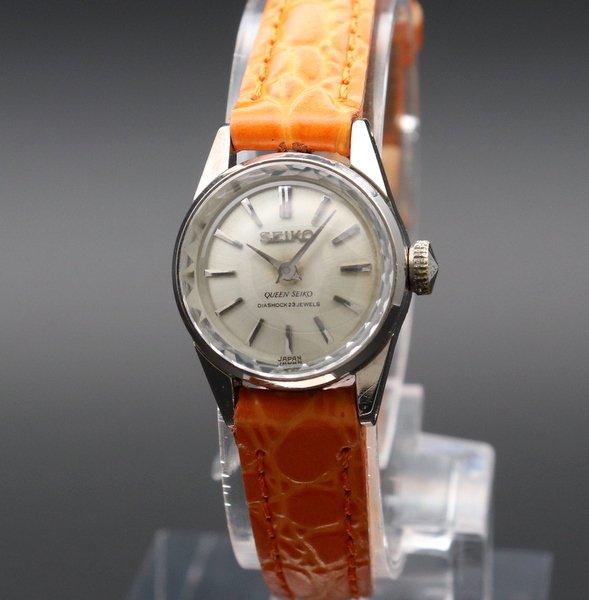 即納品  1965年 14KGF アンティーク 初期型 クィーン セイコー CAL1020 カクテル 手巻 王冠マーク 希少【OH済】
