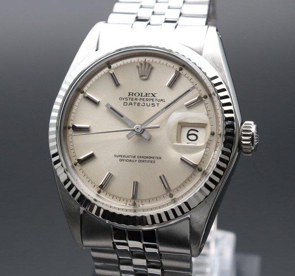 ロレックス - Antique Rolex -   売切れ 1967年 アンティーク ロレックス デイトジャスト 1601 WGベゼル ヴィンテージ【OH済】