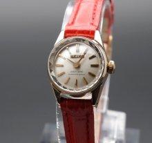 1965年 14KGF アンティーク 初期型 クィーン セイコー CAL1020 カクテル 手巻 王冠マーク 希少【OH済】