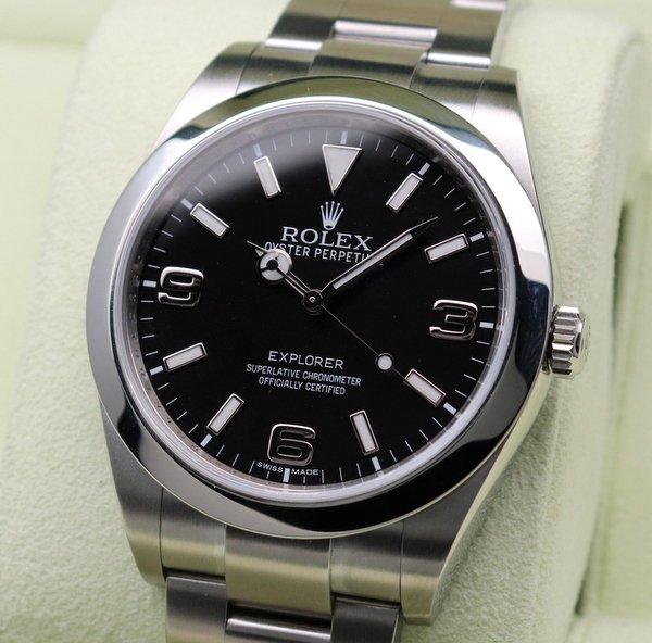 ロレックス - Antique Rolex -    ロレックスROLEX エクスプローラー� 214270 ランダム品番 ブラックアウト文字盤 【中古】【時間調整・新品仕上げ済】