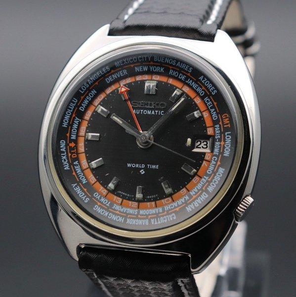 即納品  1970年製 セイコー ワールドタイム 3stモデル 6117-6400 ヴィンテージ【OH済】