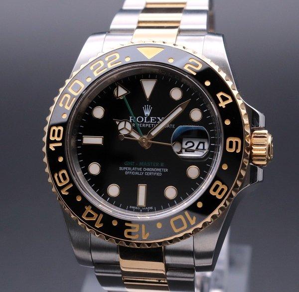 ロレックス - Antique Rolex -   ロレックス ROLEX GMTマスター2 116713LN セラミックベゼル SS/YG ランダム 【中古】【新品仕上・時間調整】