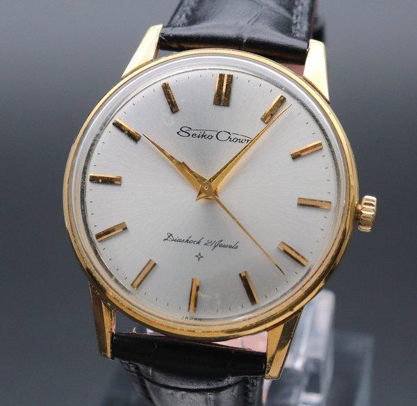 1963年 セイコー クラウン 21石 cal.560 手巻きアンティーク 16002 GF 腕時計 OH済
