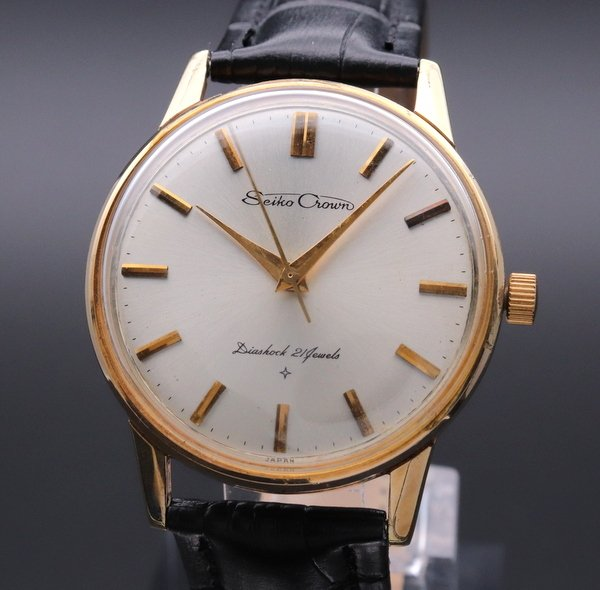 即納品  1963年 セイコー クラウン 21石 cal.560 手巻 アンティーク 16002 GF 腕時計【OH済】