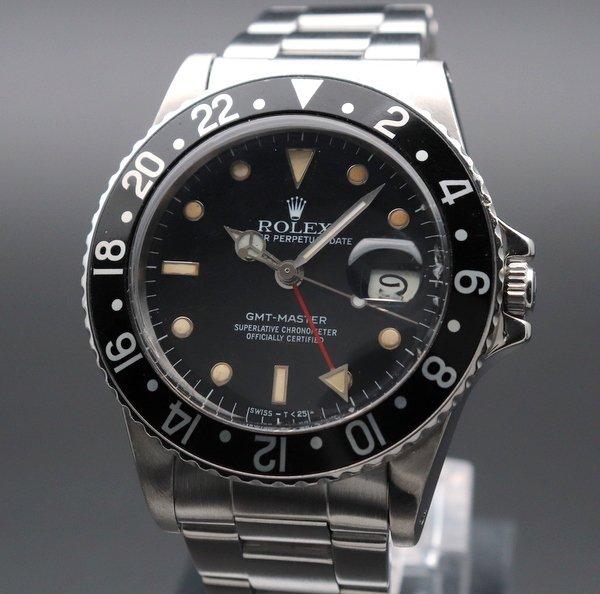 ロレックス - Antique Rolex -    1984年 ロレックス 16750 GMTマスター SS ブラックベゼル CAL3075 中古【仕上げ済】