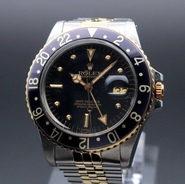 即納品  1979年 アンティーク ロレックス 16753 GMTマスターI SS/YG フジツボ CAL3075 ヴィンテージ【OH済】
