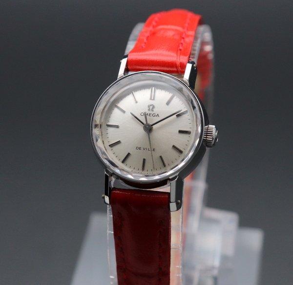即納品  1969年 オメガ アンティーク cal630 デビル カクテル 手巻き カットガラス レディース【OH済】