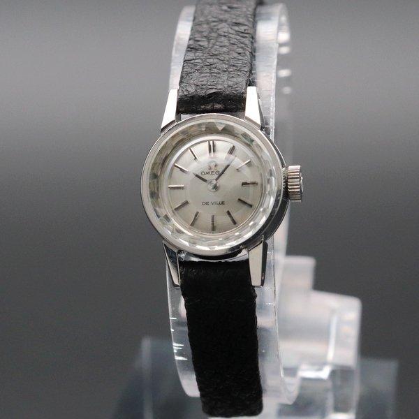 即納品  1969年 オメガ アンティーク cal485 デビル カクテル 手巻き カットガラス レディース【OH済】