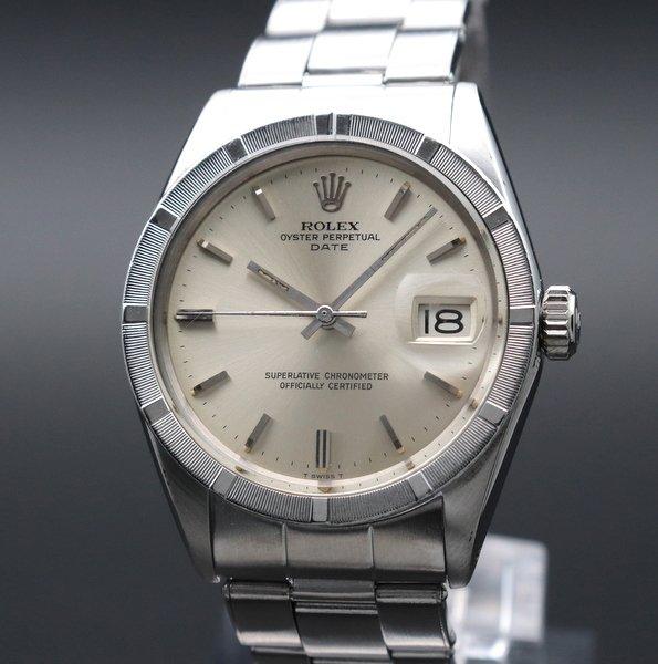 ロレックス - Antique Rolex -    売り切れ 1965年 アンティーク ロレックス オイスター ref1501 エンジンターンド リベット 出べそ ヴィンテージ【OH済】