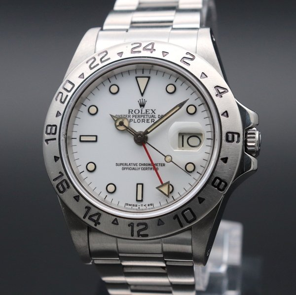 ロレックス - Antique Rolex -   完売  1984年 ロレックス 16550 エクスプローラー2 ホワイト SS 中古 美品【OH済】