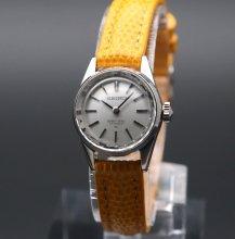 1968年 アンティーク クィーン セイコー CAL1020C カクテル WGF 手巻 レディース カットガラス【OH済】