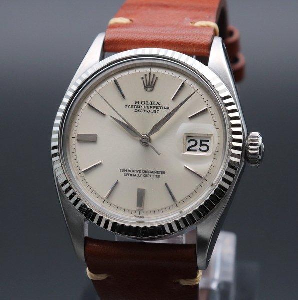 ロレックス - Antique Rolex -   売り切れ 1963年 アンティーク ロレックス デイトジャスト 1601 WGベゼル CAL1560 アルファ針 ヴィンテージ【OH済】