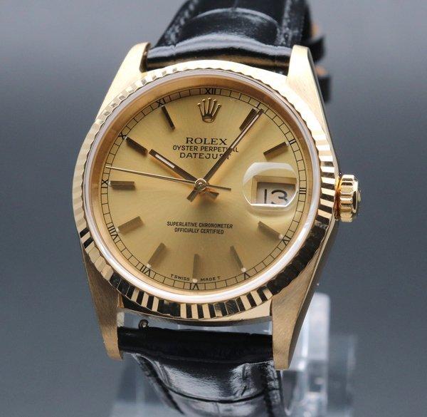 ロレックス - Antique Rolex -   完売 1991年 K18 金無垢 ロレックス オイスター パーペチュアル デイトジャスト ref16238 X番【中古 新品仕上】 【OH済】箱・保証書