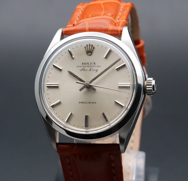 ロレックス - Antique Rolex -   売り切れ 1970年 アンティーク ロレックス SS エアキング ref5500 自動巻 ヴィンテージ 【OH済】