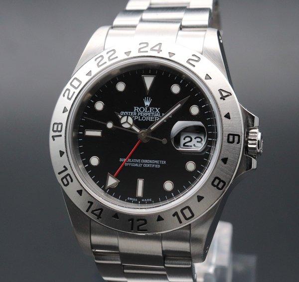 即納品  2001年頃 ロレックス 16570 エクスプローラー2 ブラック K番 SS 中古 美品 新品仕上 【OH済】