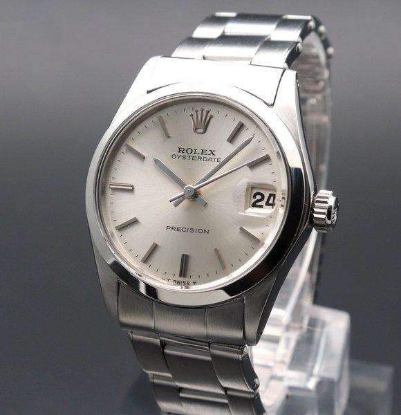 ロレックス - Antique Rolex -   完売 【OH済】1965年 アンティーク ロレックス オイスター デイト ref6466 手巻 ボーイズ 出べそ リベット 男女兼用 ヴィンテージ