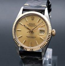 1988年製 USED ロレックス デイトジャスト 16013 YGベゼル 新品仕上 CAL3035 新品仕上げ 【OH済】