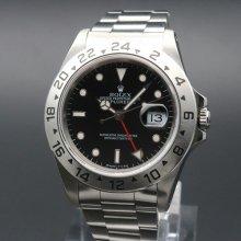 1991年 ロレックス 16570 エクスプローラー2 ブラック X番 SS 中古 美品 新品仕上【OH済】