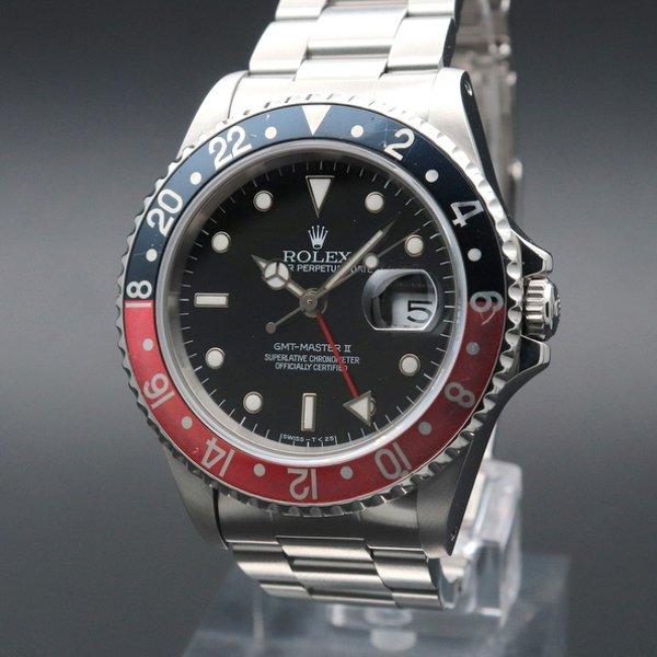 1990年 〜 1999年  1995年 黒赤ベゼル ロレックス 16710 GMTマスター� W番 SS 中古 ヴィンテージ【OH済】
