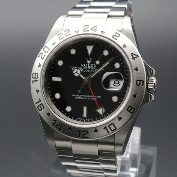 価格別  2002年 ロレックス 16570 エクスプローラー2 ブラック Y番 SS 中古 美品 ヴィンテージ【OH済】