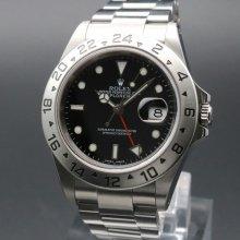 2002年 ロレックス 16570 エクスプローラー2 ブラック Y番 SS 中古 美品 ヴィンテージ【OH済】の商品画像