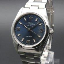 2002年 ロレックス エアキング ブルー 3/6/9 Y番 14000M 生産中止モデル 美品中古【OH済】