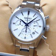 【超美品・新古品】セイコー プレザージュ SARK005 メンズ 腕時計 シースルーバック SEIKO クロノグラフ 自動巻