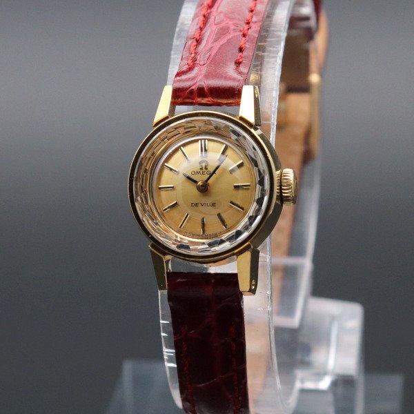 オメガ - Antique Omega -   売り切れ 1969年 オメガ アンティーク cal485 デビル カクテル 手巻き カットガラス 20ミクロン キャップゴールド レディース 【OH済】