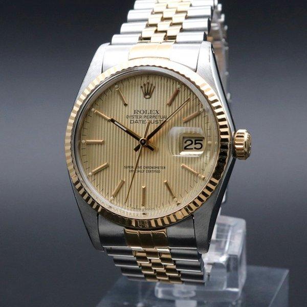 ロレックス - Antique Rolex -   売り切れ 1984年製 USED ロレックス デイトジャスト 16013 YGベゼル CAL3035 ヴィンテージ【OH済】