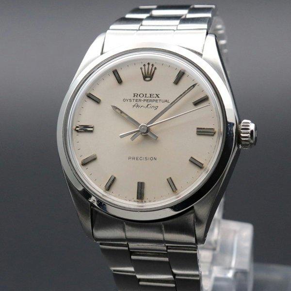 ロレックス - Antique Rolex -   完売 1966年 アンティーク ロレックス SS エアキング ref5500 自動巻 ヴィンテージ【OH済】