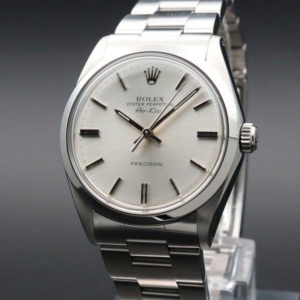 ロレックス - Antique Rolex -   売り切れ 1988年頃 アンティーク ロレックス SS エアキング ref5500 自動巻 R番 ヴィンテージ【OH済】