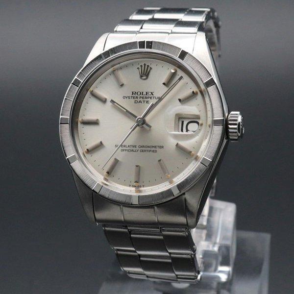 ロレックス - Antique Rolex -   完売 1968年 ロレックス SS オイスターパーペチュアルデイト ref1501 エンジンターンド リベット 出べそ ヴィンテージ ギャラ付【OH済】