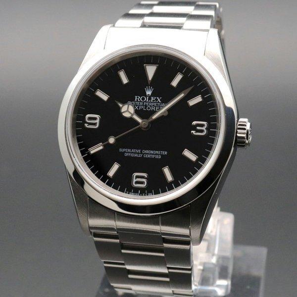 1996年 ROLEX ロレックス エクスプローラー� 14270 T番 トリチウム ダブルロックブレス ヴィンテージ【OH済】