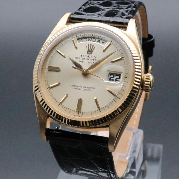 ロレックス - Antique Rolex -   売り切れ 1959年 K18金無垢 アンティーク ロレックス デイデイト ref1803  cal1555 アルファ針 前期型 ヴィンテージ【OH済】
