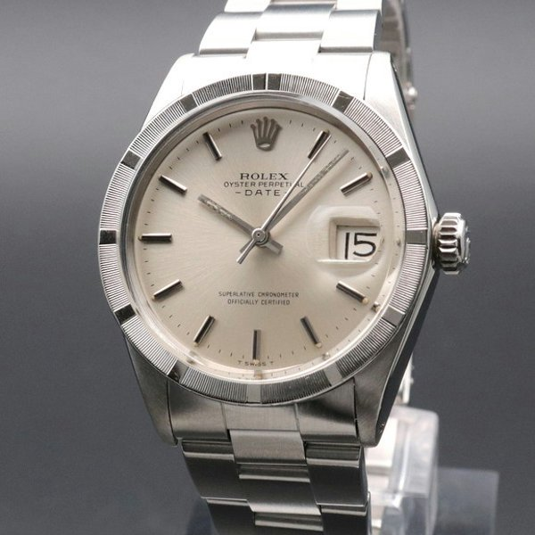 ロレックス - Antique Rolex -   完売 1967年 ロレックス SS オイスターパーペチュアルデイト ref1501 エンジンターンド ヴィンテージ【OH済】