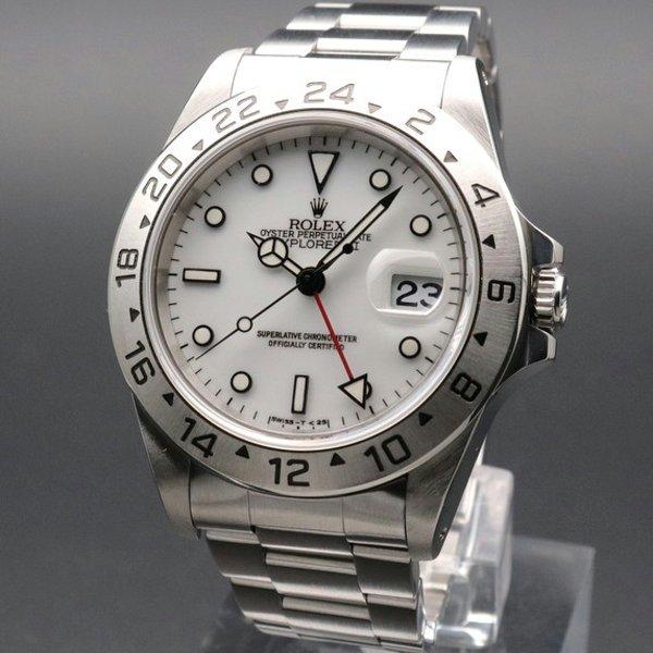ロレックス - Antique Rolex -   完売 1995年 ロレックス 16570 エクスプローラー2 ホワイト W番 SS トリチウム夜光 シングルブレスヴィンテージ【OH済】