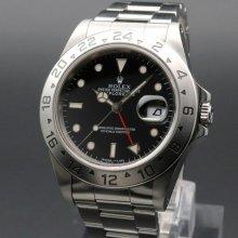 1995年 ロレックス 16570 エクスプローラー2 ブラック トリチウム夜光 W番 SS 中古 ヴィンテージ【OH済】