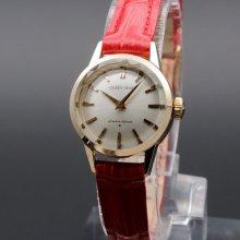 1963年 K14GF アンティーク 初期型 クィーン セイコー カットガラス  手巻 王冠マーク 希少 ヴィンテージ【OH済】