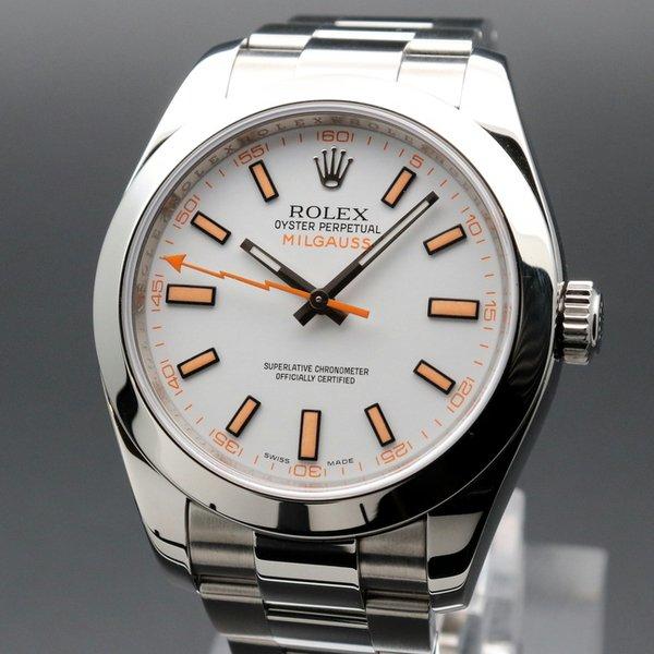 ロレックス - Antique Rolex -  売り切れ 2009年 ロレックス 116400 オイスター パーペチュアル ミルガウス オイスター マンゴー V番【OH済】